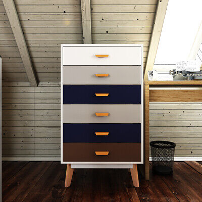 Tall Chest of Drawers Bedroom Furniture Tallboy Cupboard Storage Unit White Wood