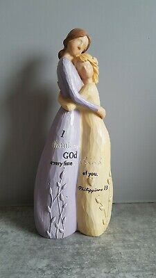 Willow Tree Effect Mother Daughter embracing gift ornament