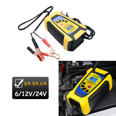 6V 12V 24V Automatic Smart Pulse Repair Motorcycle Car Battery Charger 2A 3A 6A