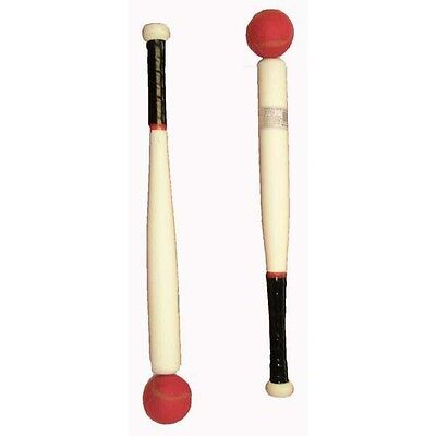 """Wooden Rounders and Baseball Bat And Ball 18"""" Sports Outdoor Kids"""