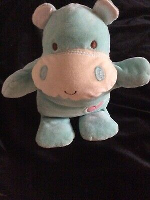 8 inch HIPPO CHIME TOY Safari Friends by BABY GUND New