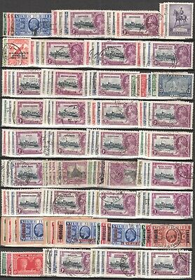 131ME 1935 SILVER JUBILEE USED GV STAMP SETS COLLECTION Cv £1740