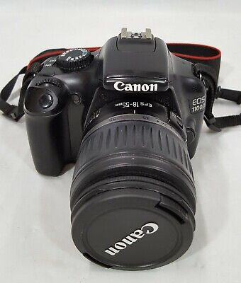 Canon EOS 1100D 12.2MP Digital SLR Camera - Black (Kit EF-S 18-55mm Lens)