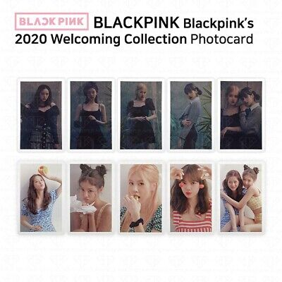 BLACK PINK's 2020 Welcoming Collection Photocard Black Red Version K-POP KPOP