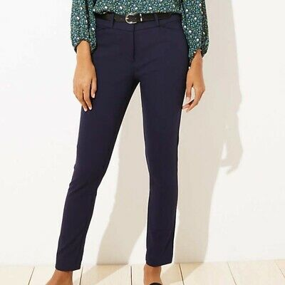 Women's Loft size 8 Marisa Skinny Ankle Pant in Navy - NWT