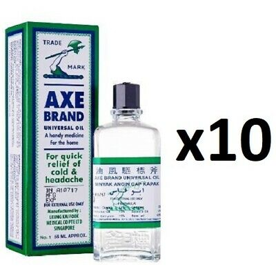 ( Pack of 10 ) Axe Brand Universal Medicated Oil ~ 56ml ~ 7-14 Days Arrive !!!
