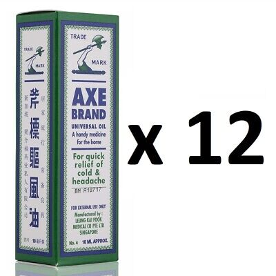 ( Pack of 12 ) Axe Brand Universal Medicated Oil ~ 10ml ~ 7-14 Days Arrive !!!