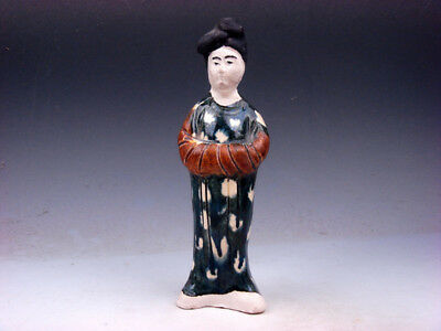 Vintage SANCAI Pottery Hand Crafted Ancient Chinese Palace Lady #01051902