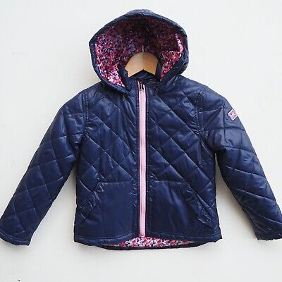 Fab Genuine MICHAEL KORS Girl's Navy Blue Quilted Puffa Coat/Jacket age 6 years