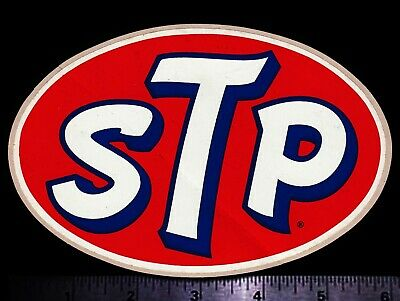 STP - Original Vintage 1960's 70's Racing Decal/Sticker 5.75 Inch Size Petty