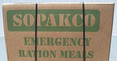 Sopakco Case of 12 MRE Meals Ready To Eat Emergency Food Rations - In Stock AL