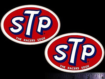 STP Racers Edge - Set of 2 Original Vintage Racing Decals/Stickers Richard Petty