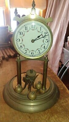 Vintage Marked Shelby Anniversary West German Clock Solid Brass Parts Or Repair