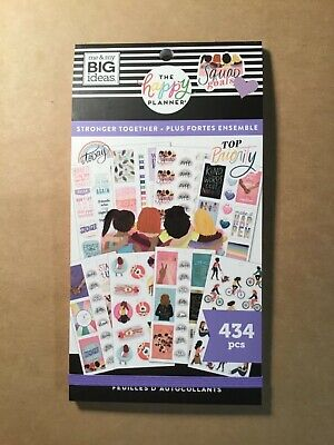 """NEW! me & my big ideas the happy Planner """"STRONGER TOGETHER"""" Sticker Book 434 Pc"""