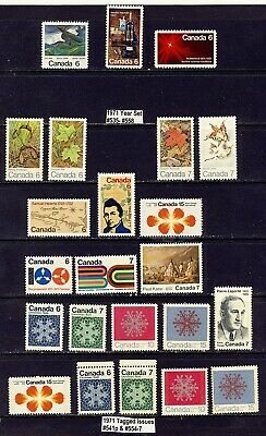 1971 #532-#558 + TAGGED #541p #554p-7p COMPLETE YEAR SET 6¢-15¢ COMMEMORATIVES