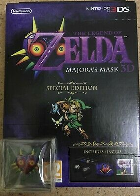 The Legend of Zelda Majora's Mask 3D Special édition, neuf presse papier offert.