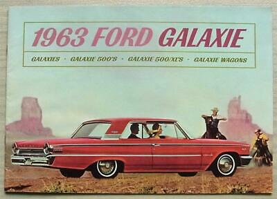 FORD GALAXIE Car Range Sales Brochure 1963 CANADIAN 500 XL WAGONS