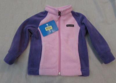 COLUMBIA baby girls pink purple fleece full zip jacket NEW tags