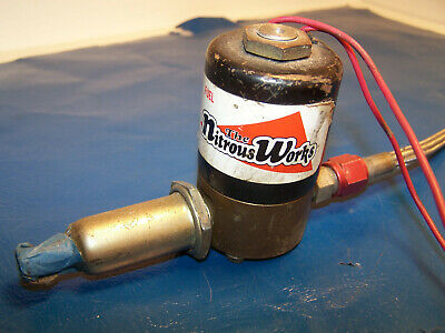 NITROUS WORKS NITROUS SYSTEM 4150 Carb with Solenoid Aluminum Plate NOS  USED