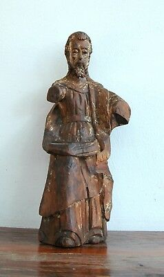 God the Father Carved Wood Antique Santo 17C Spanish Colonial