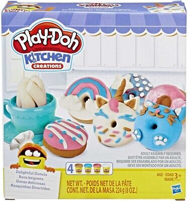 Play-Doh Kitchen Creations Delightful 4 Colour Donuts Set