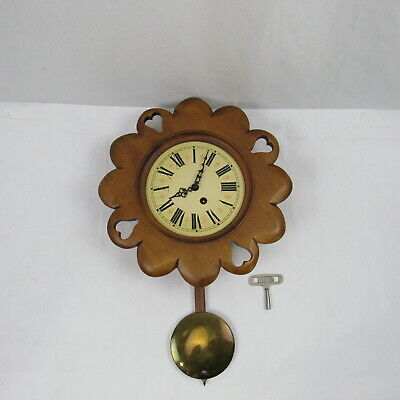 Tell City Chair Company Solid Hard Maple Andover Cottage Vintage Clock WORKING!