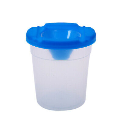4PCS Plastic Non Spill Water Cup Paint Pot & Stopper Lid For Kids Painting Props