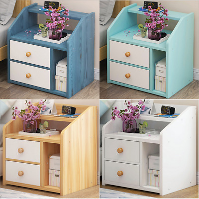 White Bedside Cabinets Nightstand Tables Bedroom Furniture With Drawers Blue Oak