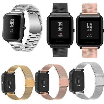 For Xiaomi Amazfit Bip Youth Milanese Stainless Steel Watch Band Bracelet Strap