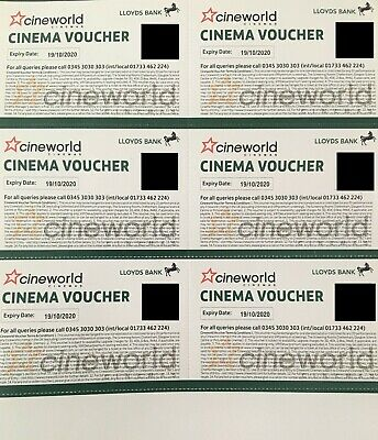 6x Cineworld Cinema Tickets from Club Lloyds