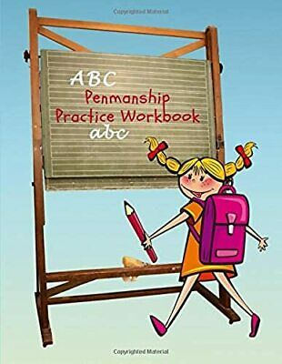 ABC Penmanship Practice Workbook: Handwriting Paper Book with Dotted Mid Line fo