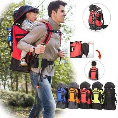Outdoor Hiking Baby Kids Toddler Carrier Walking Backpack & Sun Canopy Raincover