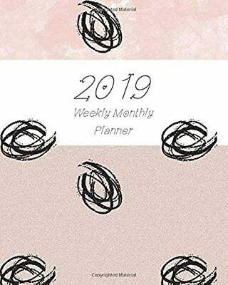 2019 Weekly Monthly Planner: Sweet Pink 12 months 365 days Calendar Schedule, Ap