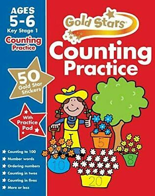 Gold Stars Counting Practice Ages 5-6 Key Stage 1 (Gold Stars Workbook)