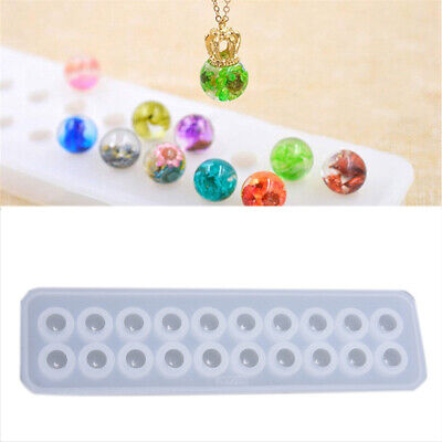 Resin Silicone Ball Beads Mold Pendant Mould DIY Craft Jewelry Making ToolUK