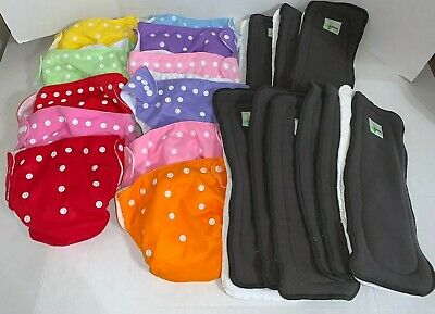 25 Cloth Diaper Lot Alva Baby Naturally Nature Pocket One Size Mixed Lot EUC