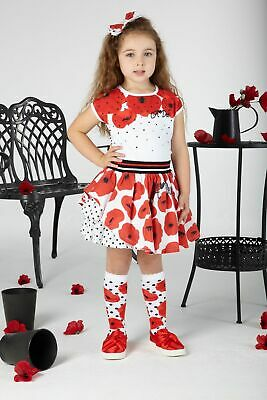 Ariana Dee S201515 Annie Poppy Skirt And Top Set