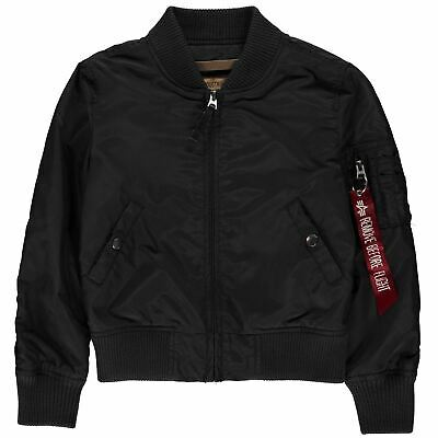 Alpha Industries Kids Boys MA1 TT Bomber Jacket Midweight Coat Top Long Sleeve