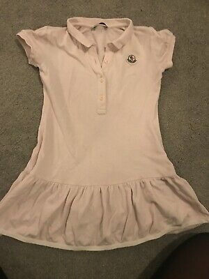 Girls Moncler Pink Polo Dress Age 2-3 Years  Approx Small Fit Age 5
