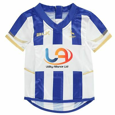 BLK Kids Boys Hartlepool United FC Home Jersey Licensed Short Sleeve Performance