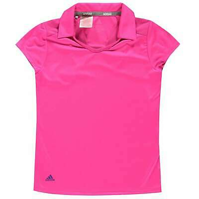 adidas Kids Girls Short Sleeve Performance Polo Junior Shirt Tee Top Breathable