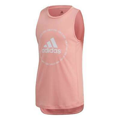 adidas Kids Girls Bold BOS Tank Performance Vest Top