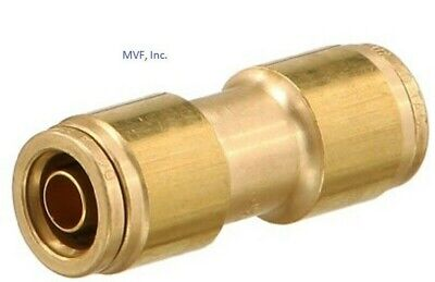 """3/8"""" O.D. Tube Union Straight DOT Tube to Tube Push to Connect Brass <262PPDOT-6"""