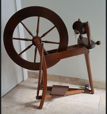 Original Vintage Ashford Traditional Spinning Wheel Natural MahoganyNot Laquered
