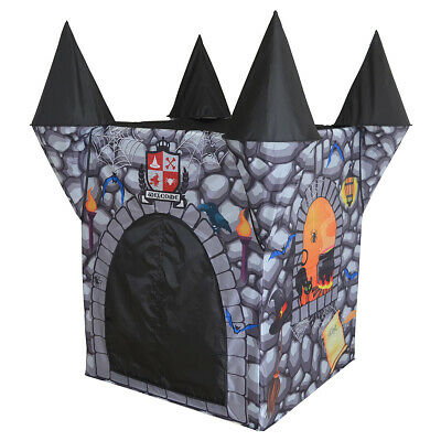 Charles Bentley Boys Haunted Castle Play House in Grey Made of Polyester