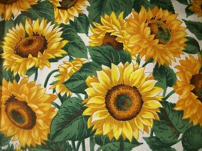 Yellow Sunflowers Material Floral Fabric VIP Print 3 yards MT174