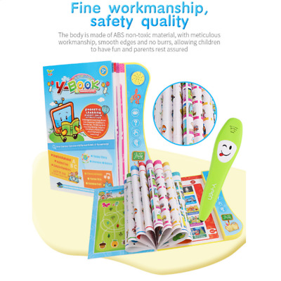 English Electronic Reading Book with Pen Children Kids Educational Learning Toys