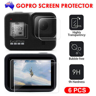 6pcs Lens Protector+Screen Protector Tempered Glass for GoPro Hero 8 Camera