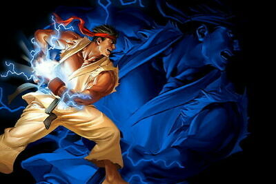 278966 Street Fighter Fight Ryu Guile Ken ChunLi Game DECOR PRINT POSTER UK