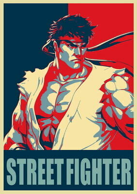 279185 Street Fighter Fight Ryu Guile Ken ChunLi Game DECOR PRINT POSTER UK